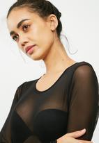 Missguided - Long sleeve mesh bodysuit