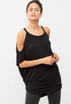 dailyfriday - Cold shoulder wrap back top