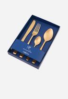 Nicolson Russell - Bella Casa gold matte 4 piece cutlery set