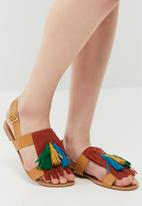 7d2ccb9a68ee Tassel and fringe sandal - HB80494 - multi dailyfriday Sandals ...