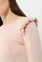dailyfriday - Ruffle detail long sleeve tee