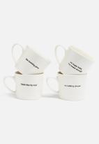 Urchin Art - No talking please stamped mug