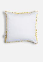 Sixth Floor - Pom pom scatter cushion