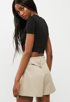 dailyfriday - Knotted front turtleneck top