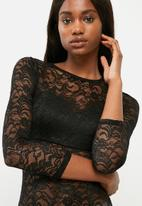 dailyfriday - Lace and knit bodysuit