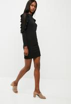 dailyfriday - Lace shoulder bodycon dress