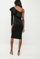dailyfriday - One shoulder ruffle neck bodycon dress