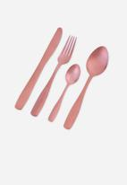 Nicolson Russell - Bella Casa rose gold matte 4 piece cutlery set