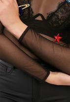 Missguided - Badge mesh long sleeve bodysuit