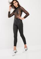 Missguided - Star detail mesh bodysuit