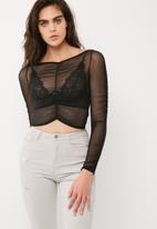 Missguided - Ruched mesh crop top