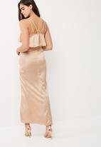Missguided - Silky double layer maxi dress