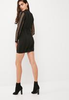 Missguided - High neck long sleeve bandage dress