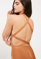 Missguided - High neck bandage cross back dress