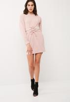 Missguided - Corset belt sweat dress