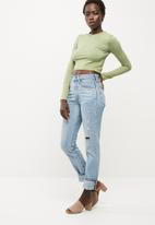 Missguided - Washed crew neck crop top