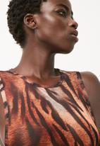 Missguided - Tiger print mesh bodysuit