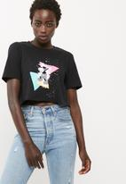 Missguided - Mickey dabbing graphic crop tee