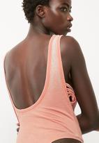 Missguided - Wash ladder side scoop neck bodysuit