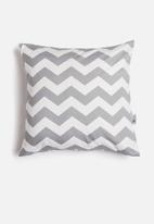 Sixth Floor - Chevron cushion cover - grey