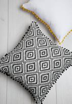 Sixth Floor - Aztec geo cushion cover - black & white