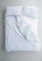 Sixth Floor - Azure stripe printed duvet set