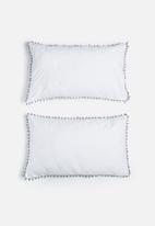 Sixth Floor - Pom pom pillowcase set