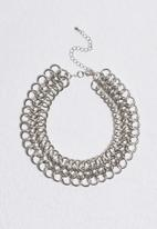 Missguided - Large chainmail choker necklace