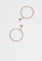 Missguided - Diamante hoop earrings
