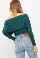 dailyfriday - Off shoulder frilled top