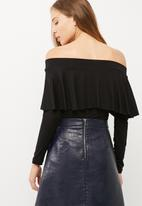 dailyfriday - Off shoulder frilled top