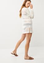 dailyfriday - Crochet open back tunic
