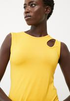 dailyfriday - Midi vest dress with cut out detail