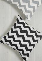 Sixth Floor - Chevron cushion cover - black