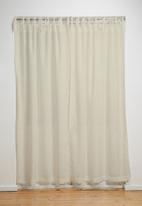 Sixth Floor - Tie top curtain - natural