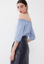 ONLY - Iris off shoulder stripe top