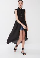 ONLY - Polly high low shirt