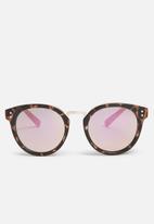 Missguided - Tortoiseshell rounded lens sunglasses
