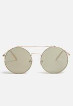 Missguided - Flat top bar round sunglasses