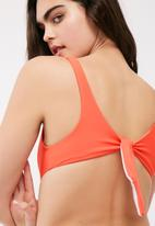 Missguided - Cut out tie back swimsuit