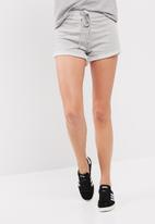 dailyfriday - Knit lace up front jogger shorts