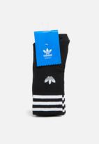 adidas Originals - Solid Crew 3 Pack - Black
