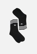adidas Originals - Solid Crew 3 Pack - Black