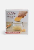 Kilner - Clip storage jar with grater lid