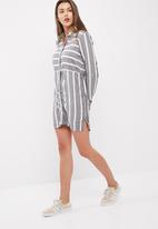 Jacqueline de Yong - Jennar stripe shirt dress