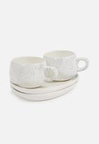 Urchin Art - Speckle mug platter