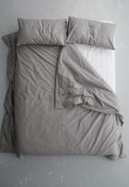 Sixth Floor - Polycotton duvet cover set - grey