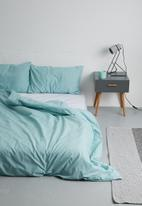 Sixth Floor - Polycotton duvet cover set - duck egg