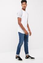 basicthread - Skinny fit release hem