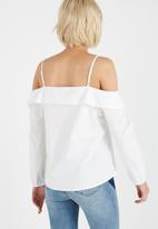 Cotton On - Hayley cold shoulder poplin top